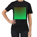 Course Colorful Pattern Abstract Women s T-Shirt (Black) (Two Sided) Front