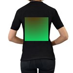 Course Colorful Pattern Abstract Women s T-Shirt (Black) (Two Sided) Back