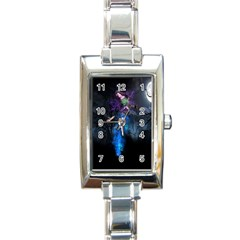 Magical Fantasy Wild Darkness Mist Rectangle Italian Charm Watch