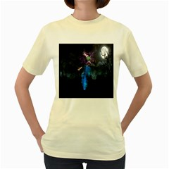 Magical Fantasy Wild Darkness Mist Women s Yellow T Shirt