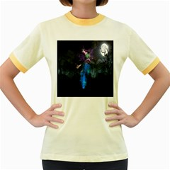 Magical Fantasy Wild Darkness Mist Women s Fitted Ringer T Shirts
