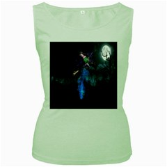 Magical Fantasy Wild Darkness Mist Women s Green Tank Top