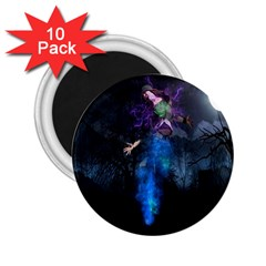 Magical Fantasy Wild Darkness Mist 2 25  Magnets (10 Pack)