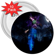 Magical Fantasy Wild Darkness Mist 3  Buttons (10 Pack)