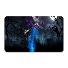 Magical Fantasy Wild Darkness Mist Magnet (rectangular)