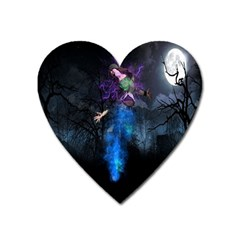 Magical Fantasy Wild Darkness Mist Heart Magnet