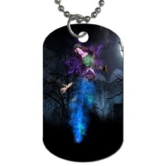 Magical Fantasy Wild Darkness Mist Dog Tag (one Side)