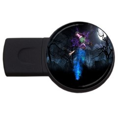 Magical Fantasy Wild Darkness Mist Usb Flash Drive Round (2 Gb) by BangZart