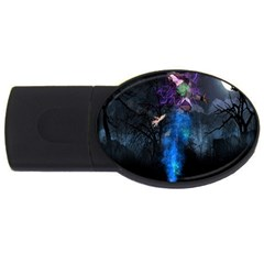 Magical Fantasy Wild Darkness Mist Usb Flash Drive Oval (2 Gb)