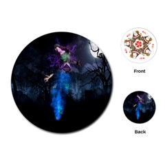 Magical Fantasy Wild Darkness Mist Playing Cards (round)