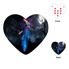 Magical Fantasy Wild Darkness Mist Playing Cards (heart)