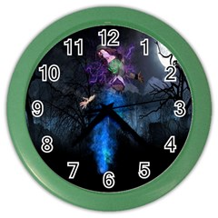 Magical Fantasy Wild Darkness Mist Color Wall Clocks