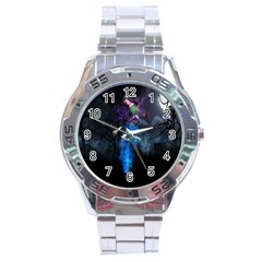 Magical Fantasy Wild Darkness Mist Stainless Steel Analogue Watch by BangZart