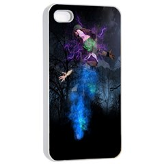 Magical Fantasy Wild Darkness Mist Apple Iphone 4/4s Seamless Case (white)