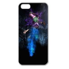 Magical Fantasy Wild Darkness Mist Apple Seamless Iphone 5 Case (clear)