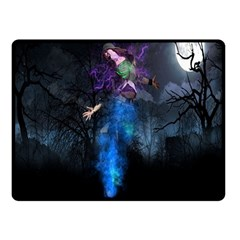 Magical Fantasy Wild Darkness Mist Double Sided Fleece Blanket (small)