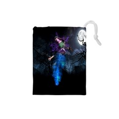 Magical Fantasy Wild Darkness Mist Drawstring Pouches (small)