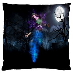 Magical Fantasy Wild Darkness Mist Large Flano Cushion Case (one Side)