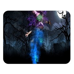 Magical Fantasy Wild Darkness Mist Double Sided Flano Blanket (large)