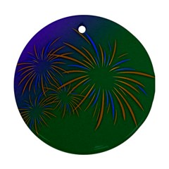 Sylvester New Year S Day Year Party Ornament (round) by BangZart
