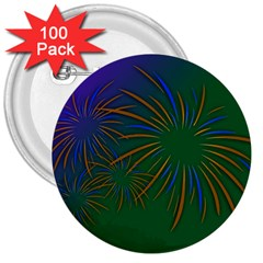 Sylvester New Year S Day Year Party 3  Buttons (100 Pack)