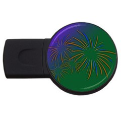 Sylvester New Year S Day Year Party Usb Flash Drive Round (2 Gb)