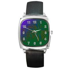 Sylvester New Year S Day Year Party Square Metal Watch