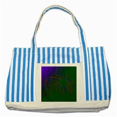 Sylvester New Year S Day Year Party Striped Blue Tote Bag