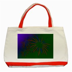 Sylvester New Year S Day Year Party Classic Tote Bag (red)
