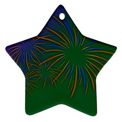 Sylvester New Year S Day Year Party Star Ornament (two Sides) by BangZart