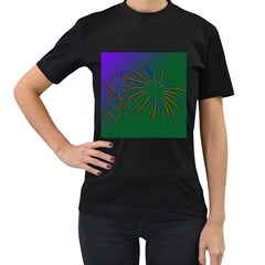 Sylvester New Year S Day Year Party Women s T Shirt (black)