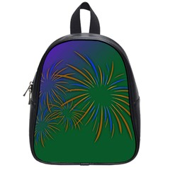 Sylvester New Year S Day Year Party School Bag (small)