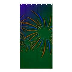 Sylvester New Year S Day Year Party Shower Curtain 36  X 72  (stall)