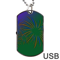 Sylvester New Year S Day Year Party Dog Tag Usb Flash (two Sides)