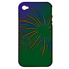 Sylvester New Year S Day Year Party Apple Iphone 4/4s Hardshell Case (pc+silicone)
