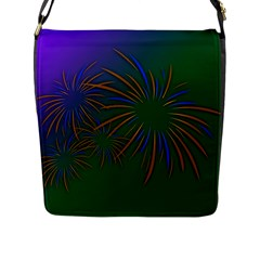 Sylvester New Year S Day Year Party Flap Messenger Bag (l)