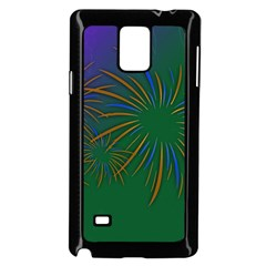 Sylvester New Year S Day Year Party Samsung Galaxy Note 4 Case (black)