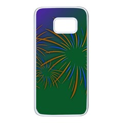 Sylvester New Year S Day Year Party Samsung Galaxy S7 White Seamless Case