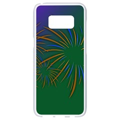 Sylvester New Year S Day Year Party Samsung Galaxy S8 White Seamless Case