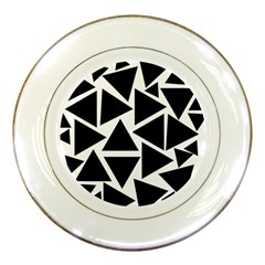 Template Black Triangle Porcelain Plates by BangZart
