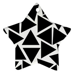 Template Black Triangle Star Ornament (two Sides) by BangZart