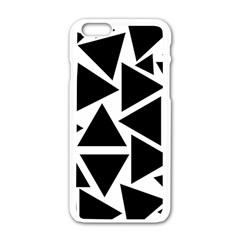 Template Black Triangle Apple Iphone 6/6s White Enamel Case