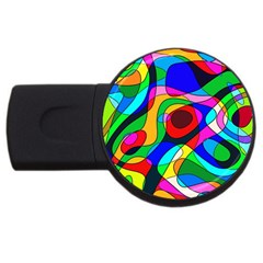 Digital Multicolor Colorful Curves Usb Flash Drive Round (2 Gb) by BangZart
