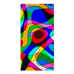 Digital Multicolor Colorful Curves Shower Curtain 36  X 72  (stall)  by BangZart