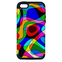 Digital Multicolor Colorful Curves Apple Iphone 5 Hardshell Case (pc+silicone) by BangZart