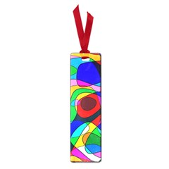 Digital Multicolor Colorful Curves Small Book Marks