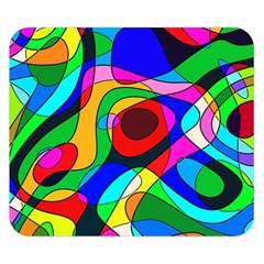 Digital Multicolor Colorful Curves Double Sided Flano Blanket (small)  by BangZart
