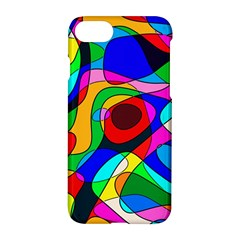 Digital Multicolor Colorful Curves Apple Iphone 7 Hardshell Case