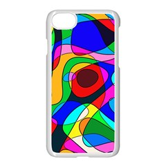 Digital Multicolor Colorful Curves Apple Iphone 7 Seamless Case (white)