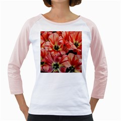 Tulips Flowers Spring Girly Raglans